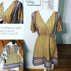 Urban Outfitters size small yellow tunic dress